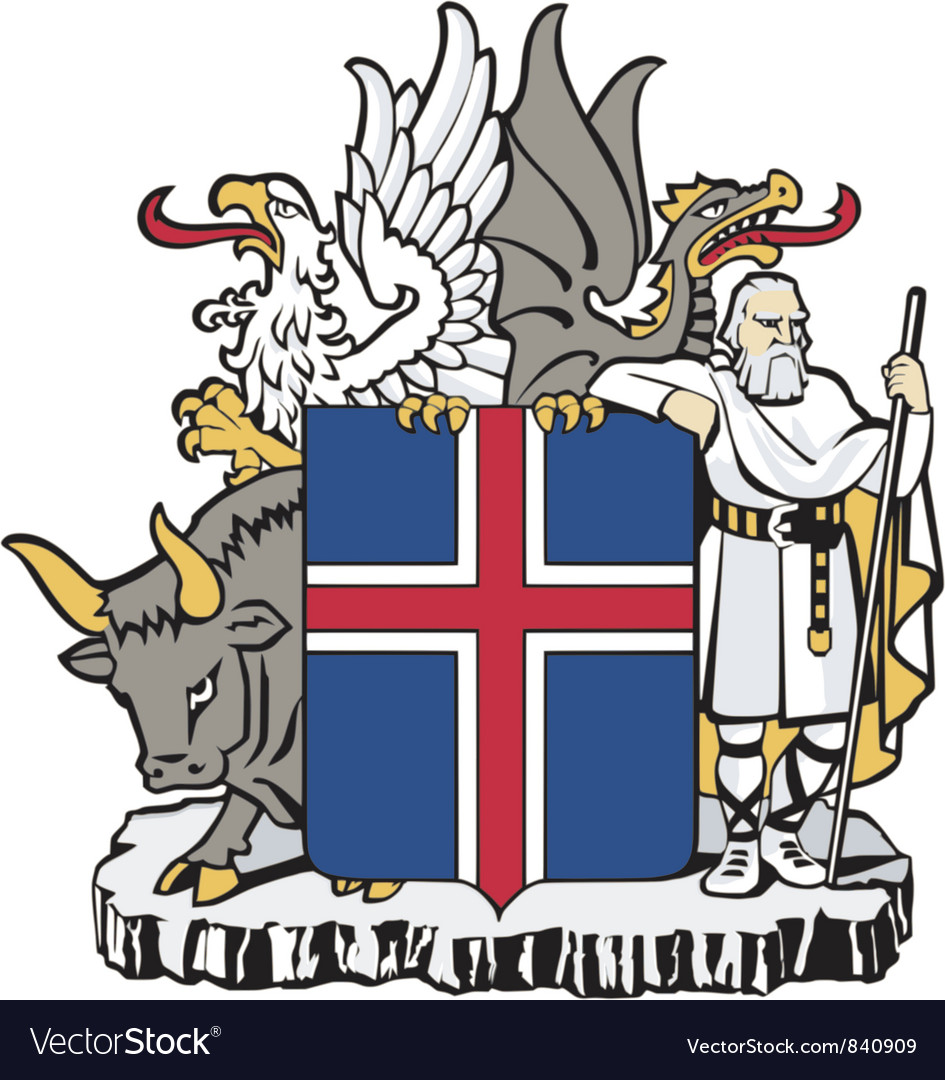 Coat of arms of iceland vector | Price: 3 Credit (USD $3)