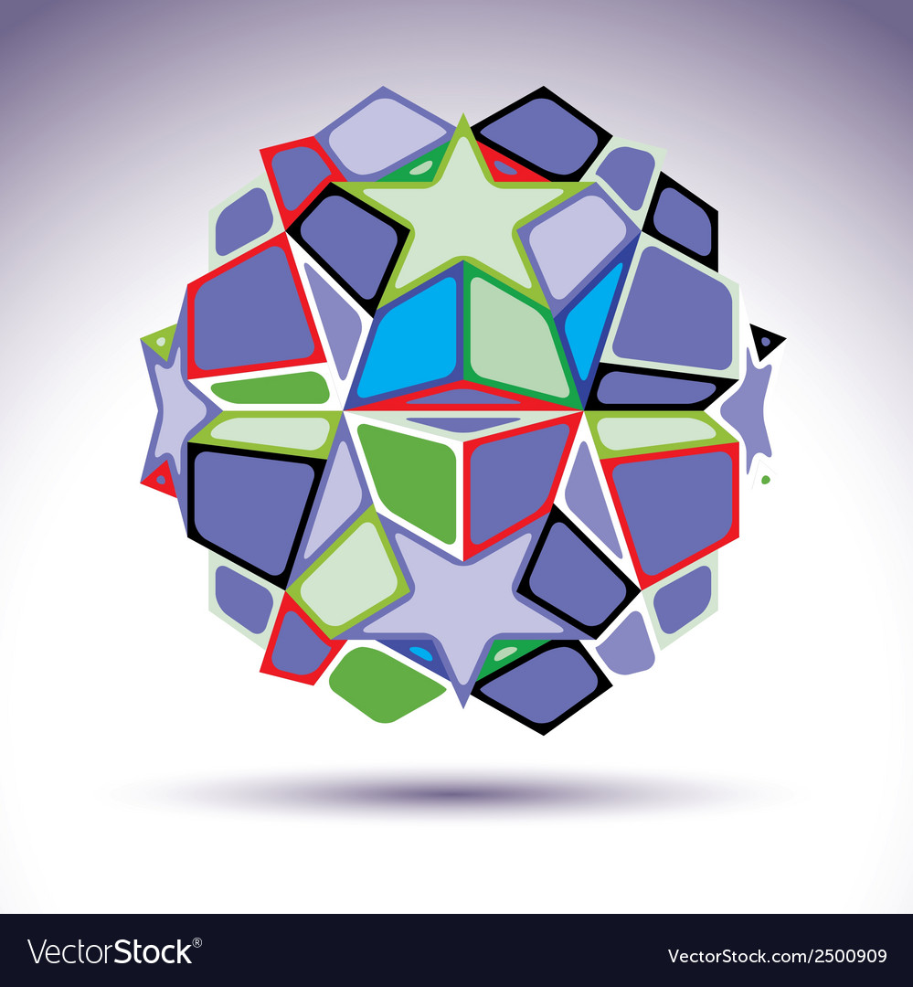 Complicated kaleidoscope 3d sphere constructed vector | Price: 1 Credit (USD $1)