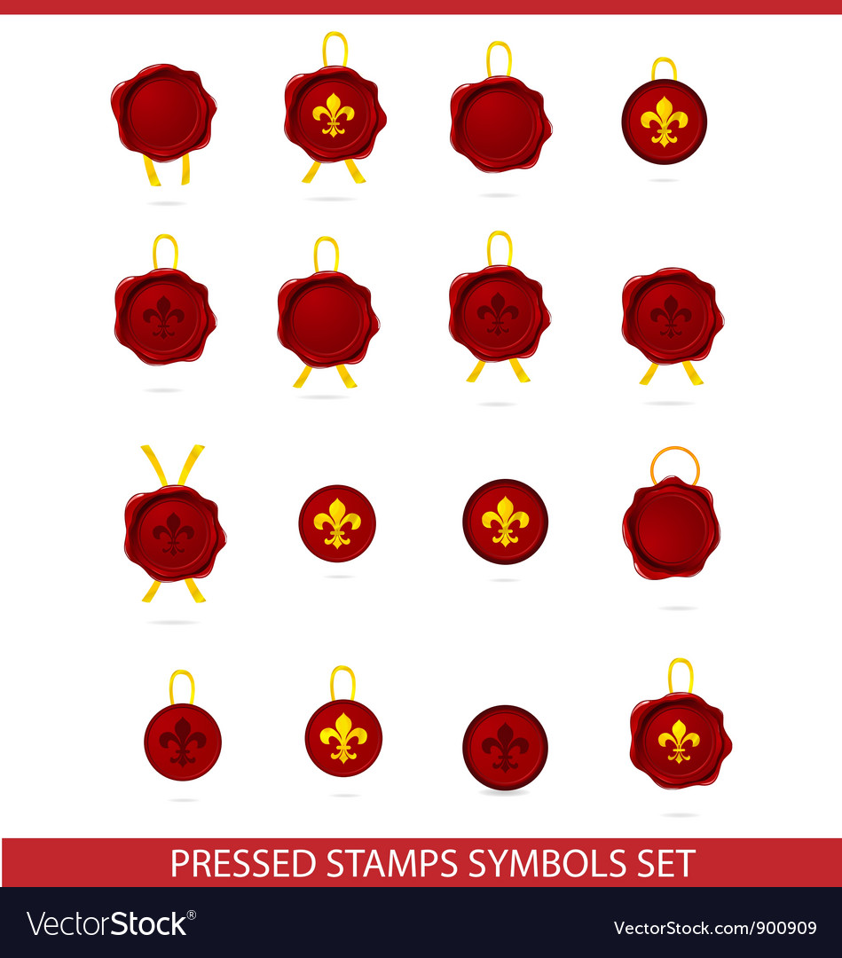Elegance tags mark pressed stamps set vector | Price: 3 Credit (USD $3)