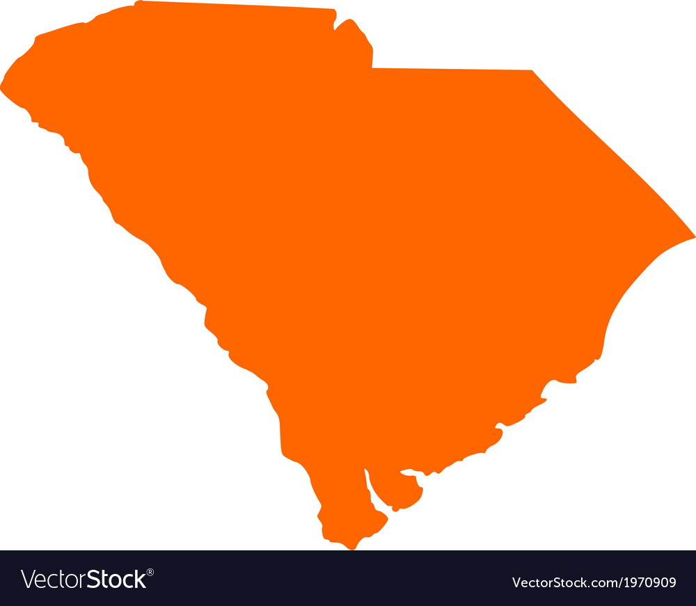 Map of south carolina vector | Price: 1 Credit (USD $1)