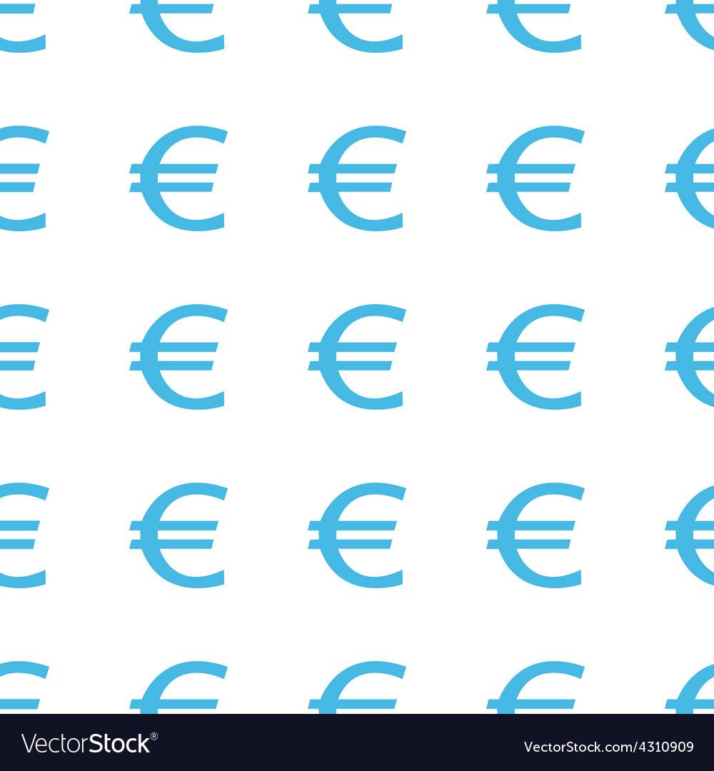Unique euro seamless pattern vector | Price: 1 Credit (USD $1)