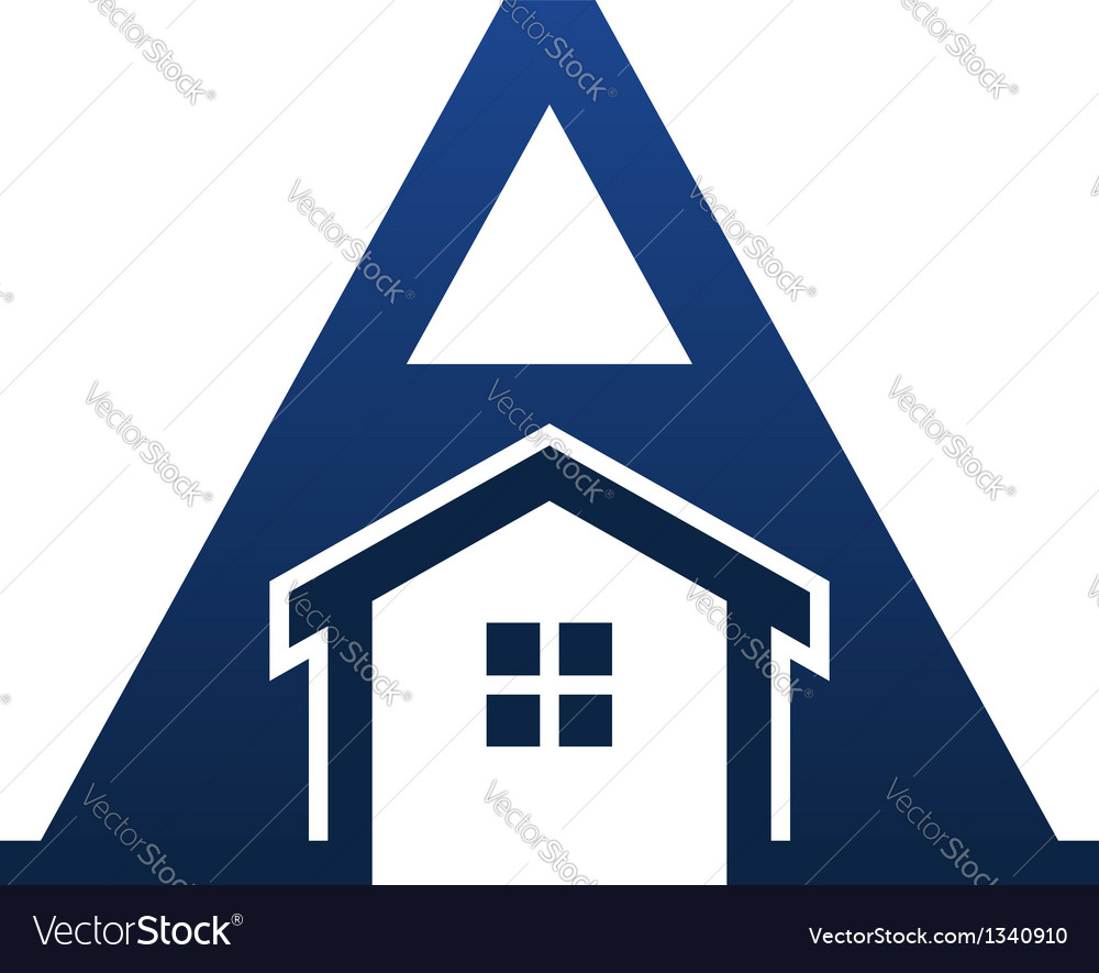 A letter house vector | Price: 1 Credit (USD $1)