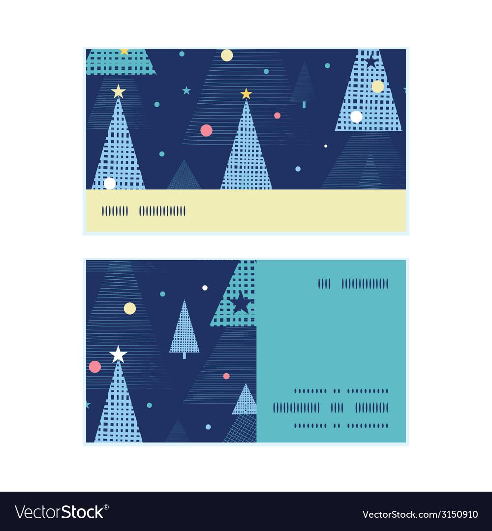 Abstract holiday christmas trees horizontal stripe vector   Price: 1 Credit (USD $1)