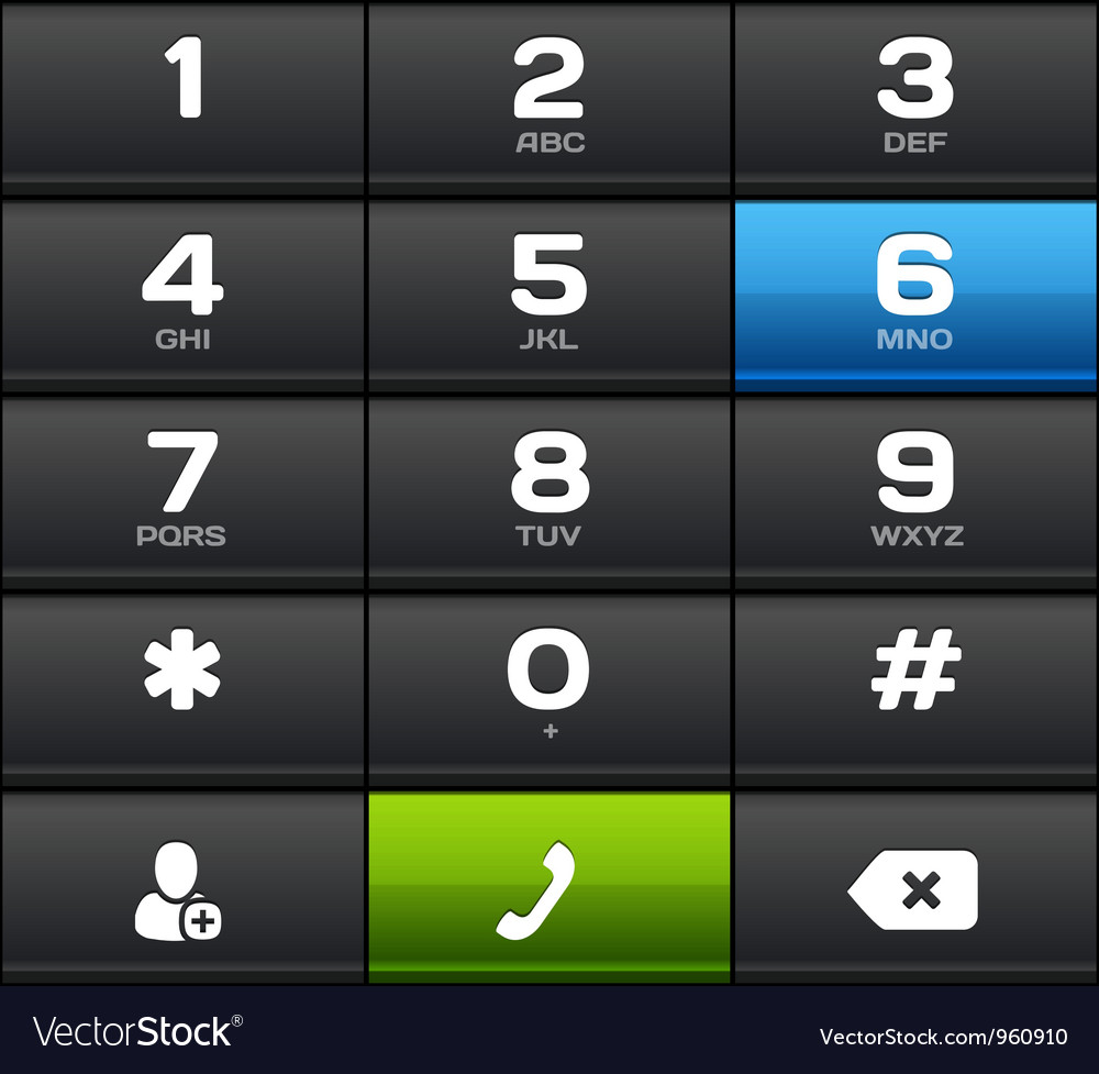 Black number phone keypad vector | Price: 1 Credit (USD $1)