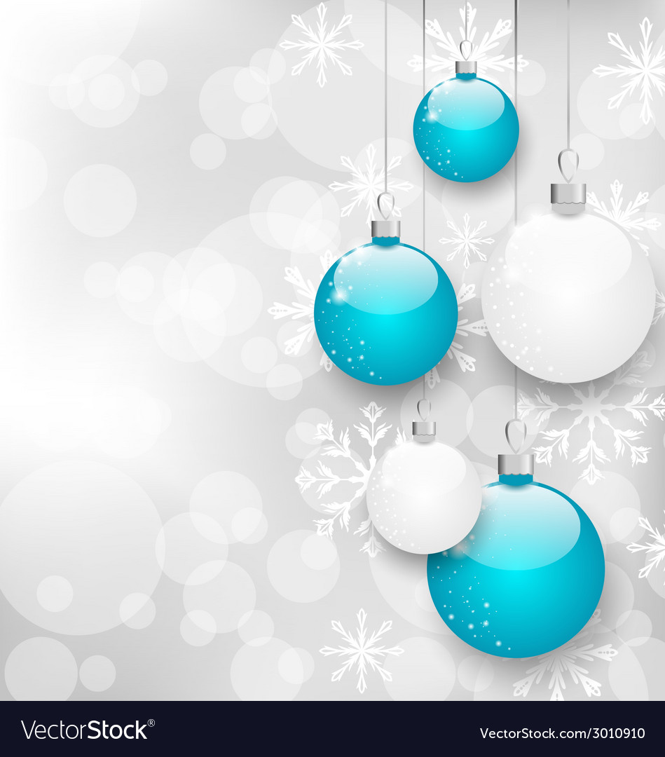 Christmas card with colorful balls and copy space vector   Price: 1 Credit (USD $1)