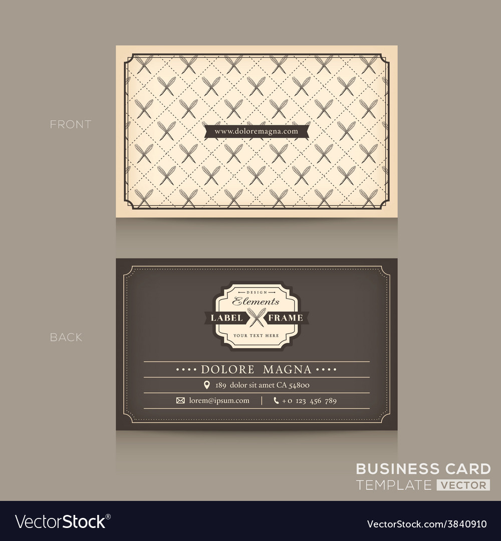 Classic business card design template vector | Price: 1 Credit (USD $1)