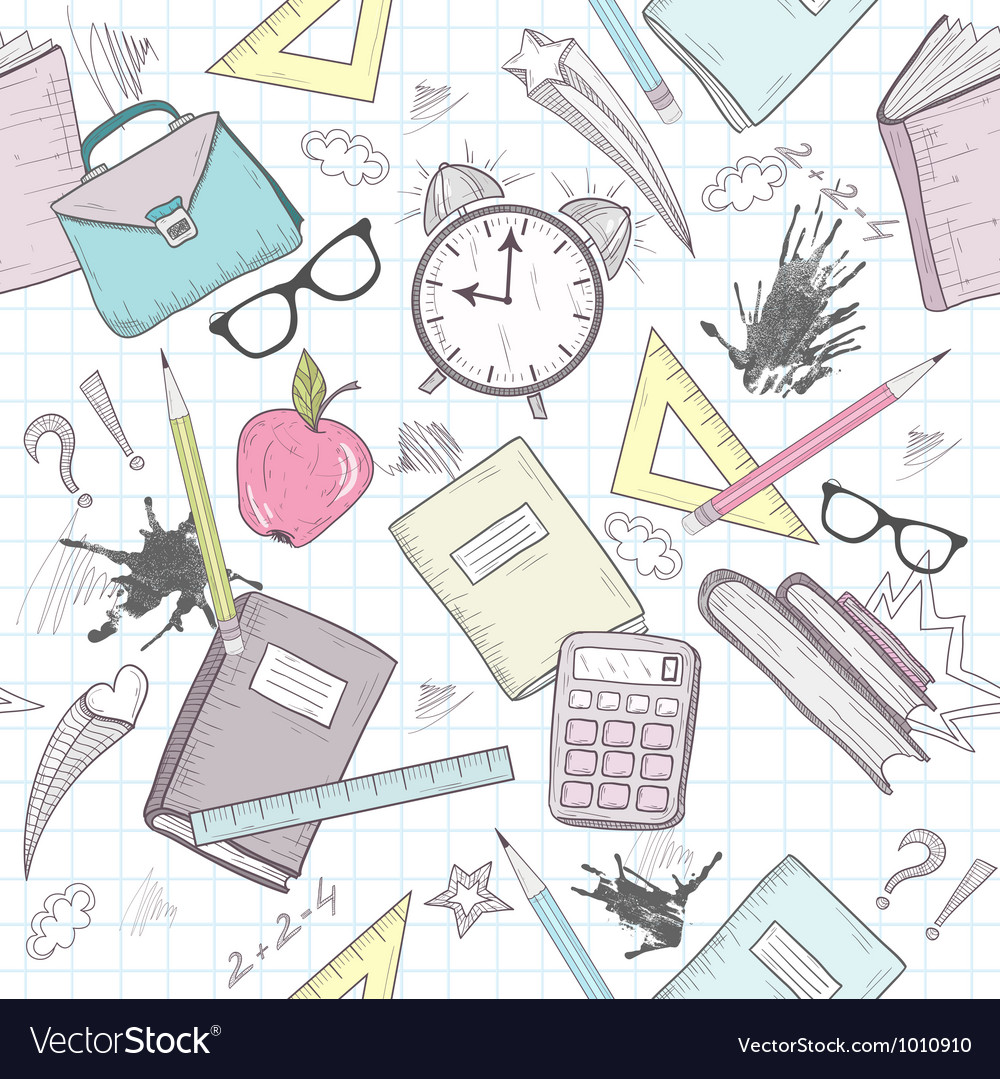 Cute school seamless abstract pattern vector | Price: 3 Credit (USD $3)