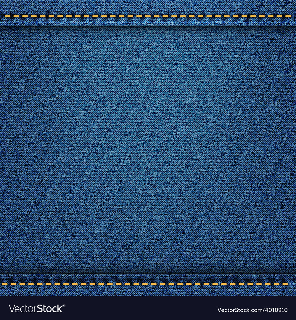 Denim jeans texture with strings and seams vector | Price: 1 Credit (USD $1)