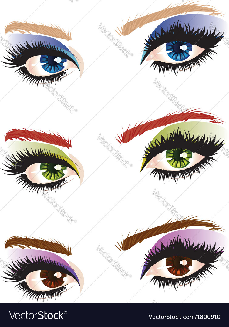 Eye make up vector | Price: 1 Credit (USD $1)