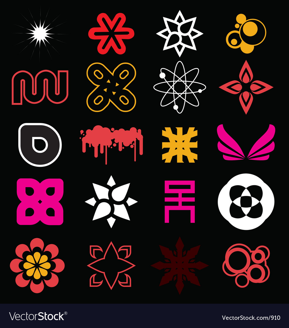 Funky icon shapes vector | Price: 1 Credit (USD $1)