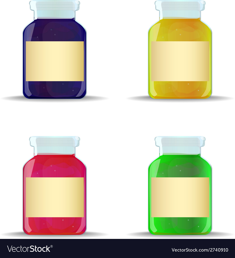 Glass jars with jam vector   Price: 1 Credit (USD $1)