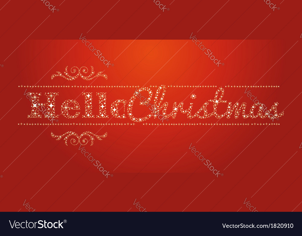 Hello christmas stars signal vector | Price: 1 Credit (USD $1)