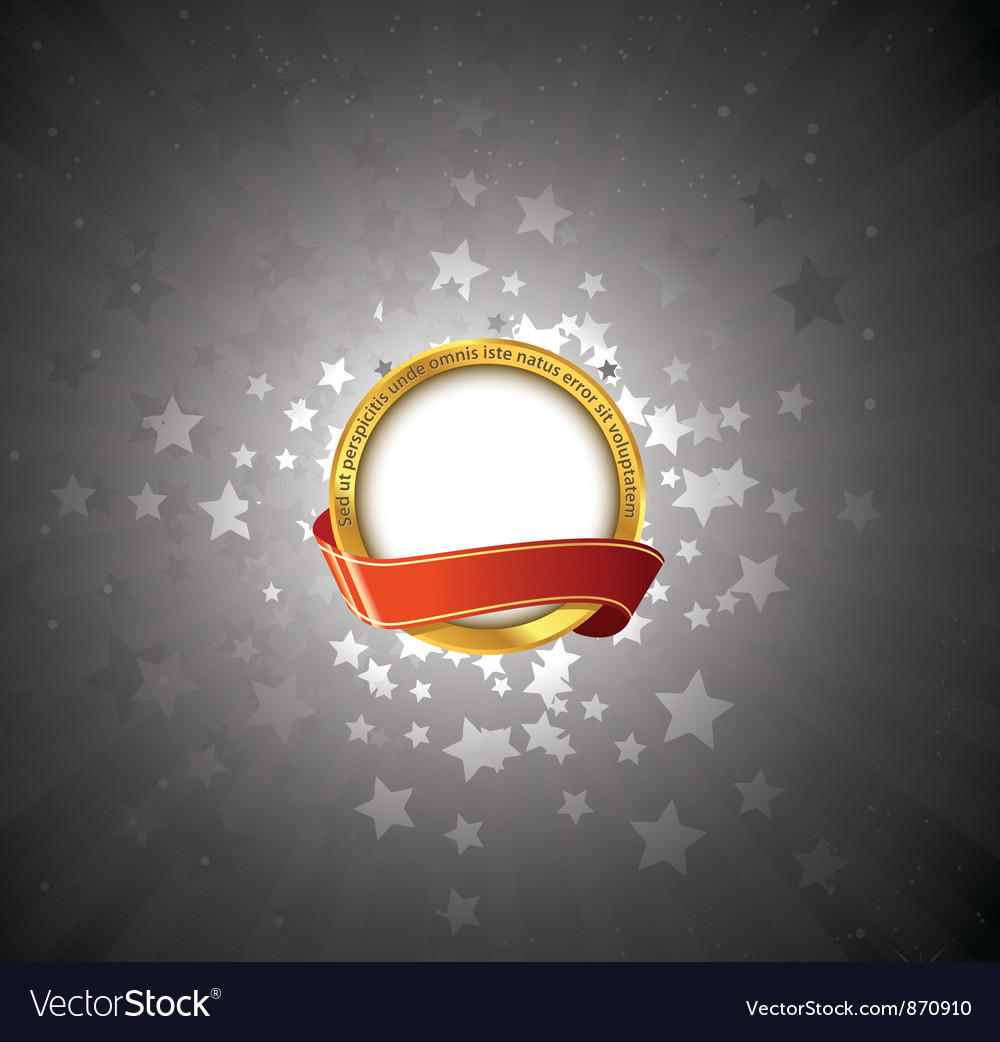 Label with stars vector | Price: 1 Credit (USD $1)