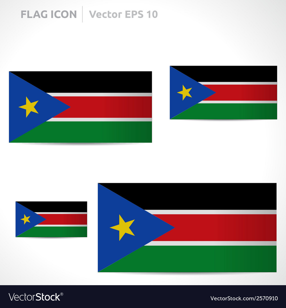 South sudan flag template vector | Price: 1 Credit (USD $1)