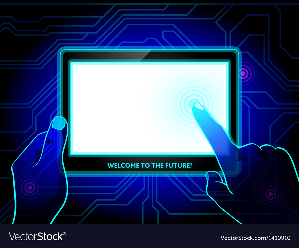 Virtual reality tablet vector | Price: 1 Credit (USD $1)