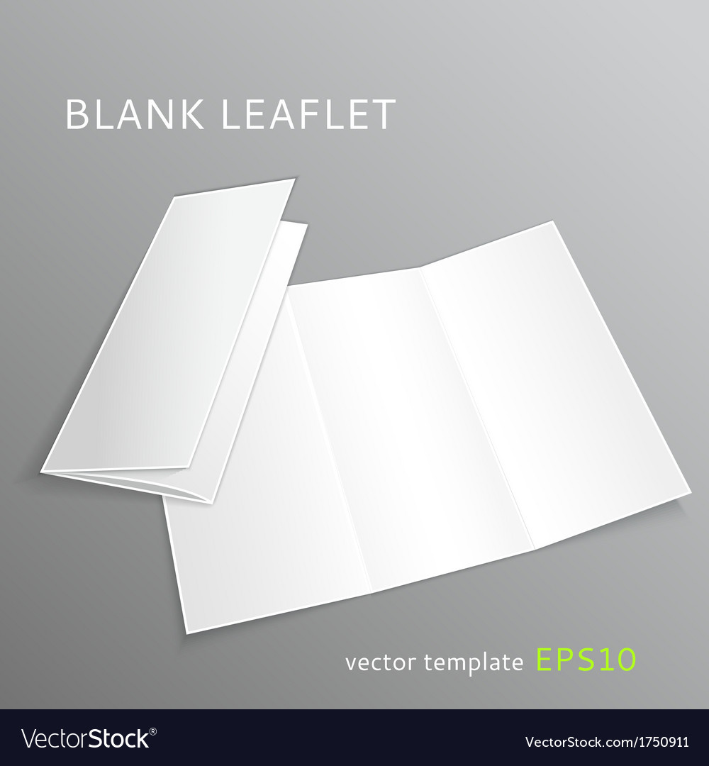 Blank leaflet vector | Price: 1 Credit (USD $1)