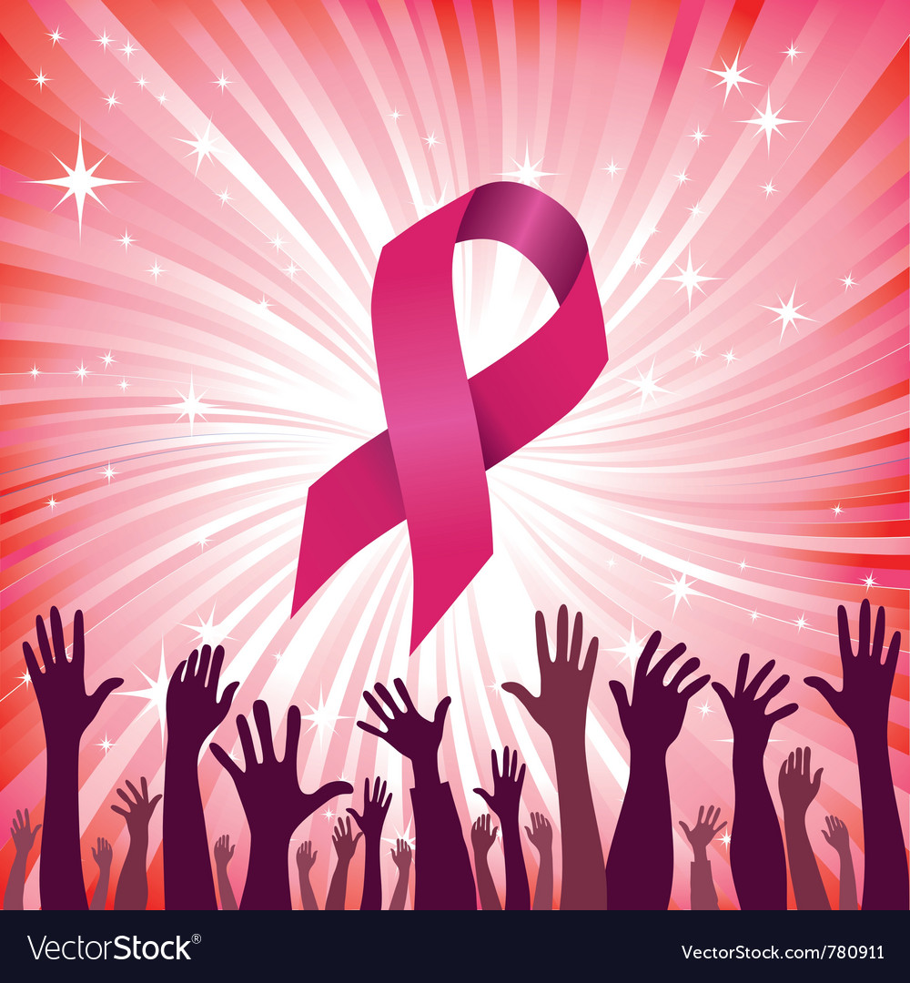 Breast cancer ribbon vector | Price: 1 Credit (USD $1)