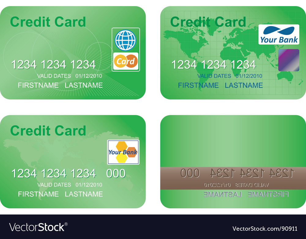 Design of a credit card vector | Price: 1 Credit (USD $1)