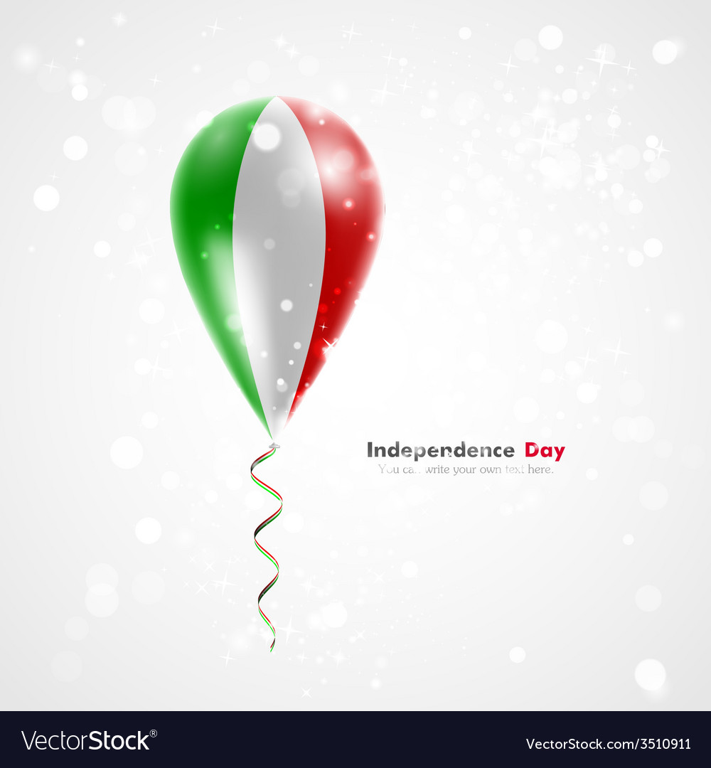 Flag of italy on balloon vector | Price: 1 Credit (USD $1)