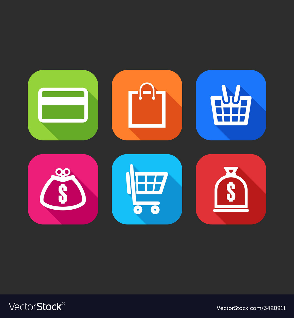 Flat icons for web and mobile applications flat vector | Price: 1 Credit (USD $1)