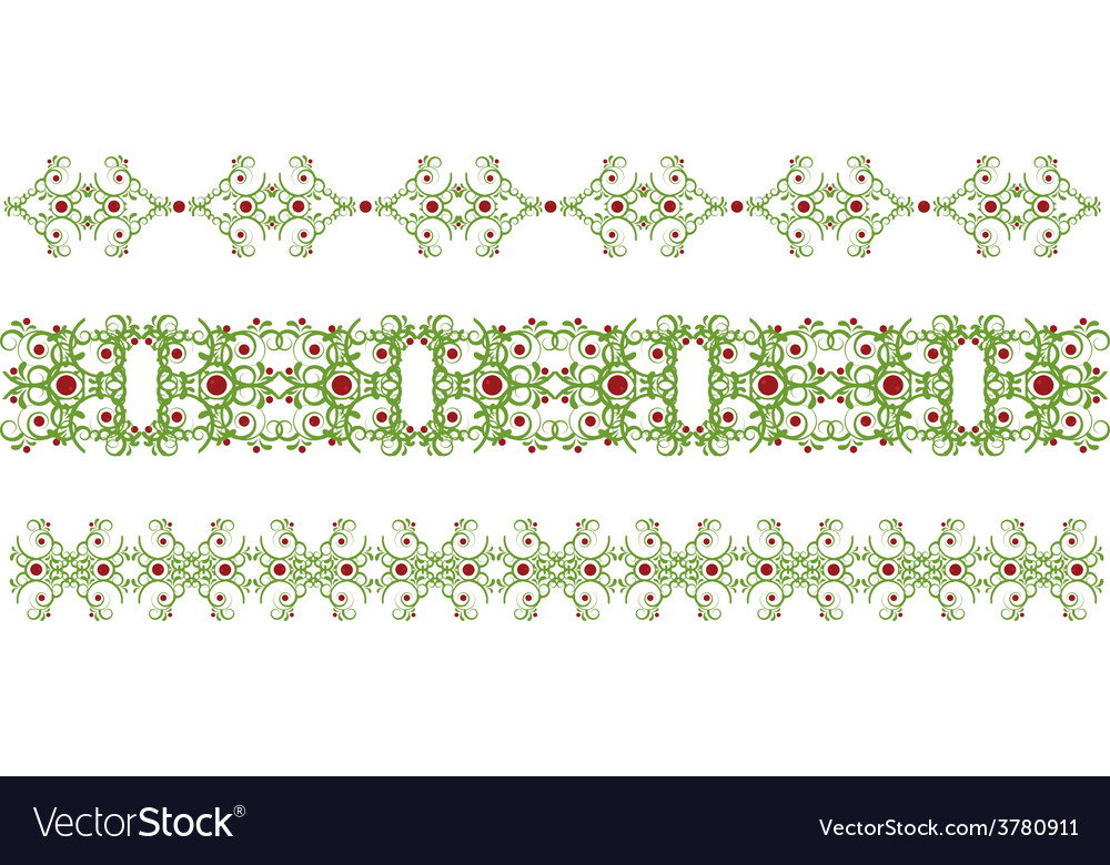 Green border vector | Price: 1 Credit (USD $1)