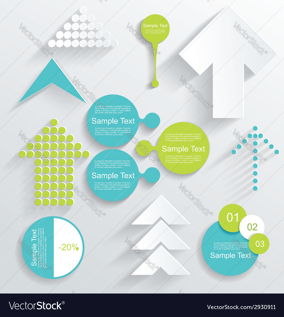 Modern set of business infographic elements vector | Price: 1 Credit (USD $1)