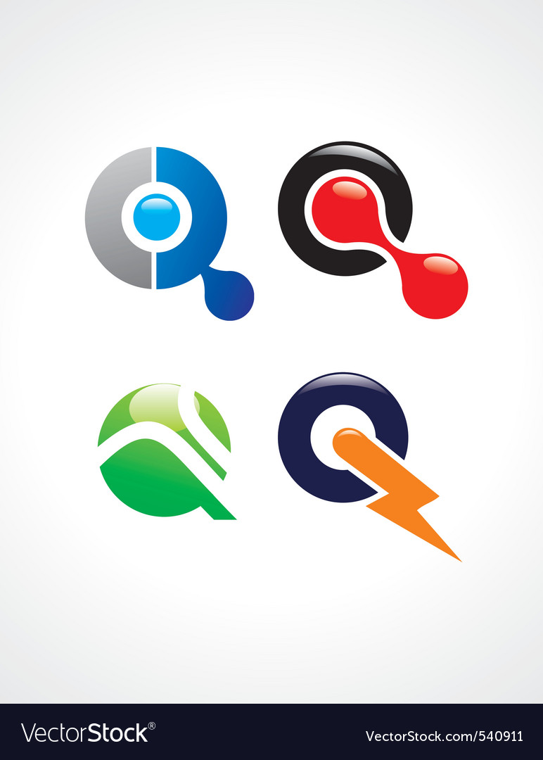 Q logo vector | Price: 1 Credit (USD $1)