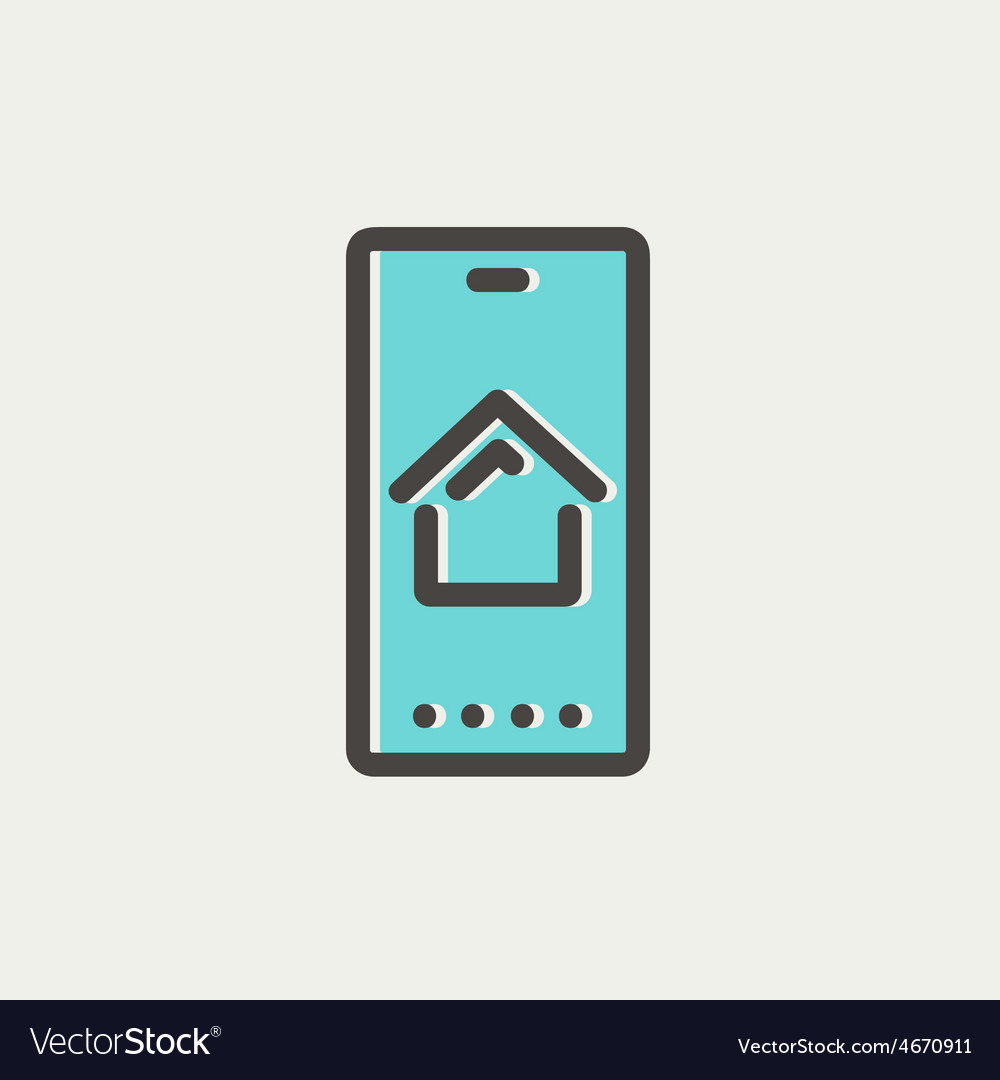 Real estate business card thin line icon vector   Price: 1 Credit (USD $1)