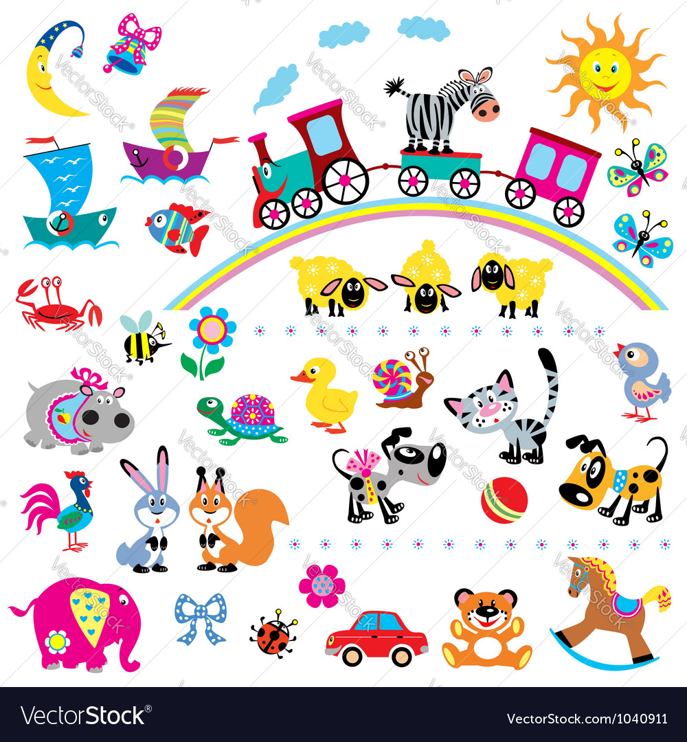 Simple children pictures vector | Price: 3 Credit (USD $3)