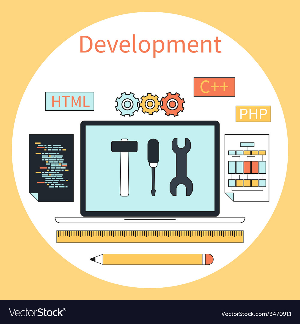 Web development instruments concept vector | Price: 1 Credit (USD $1)