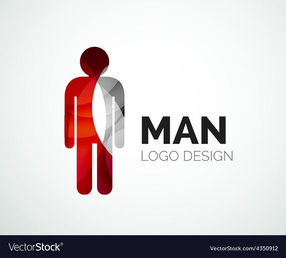 Abstract logo - man icon vector | Price: 1 Credit (USD $1)