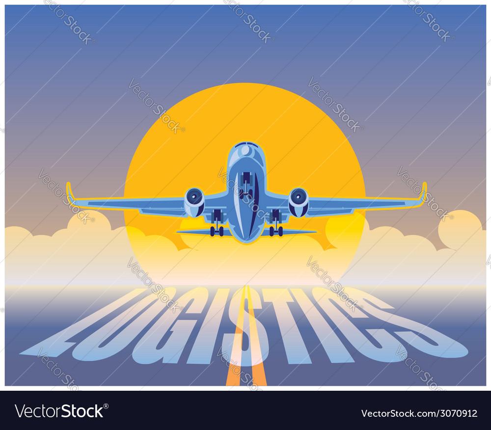 Air freight logistics vector   Price: 1 Credit (USD $1)