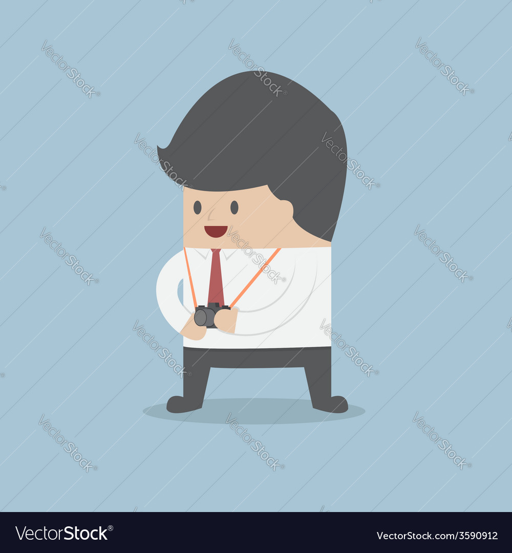 Businessman holding a camera vector | Price: 1 Credit (USD $1)