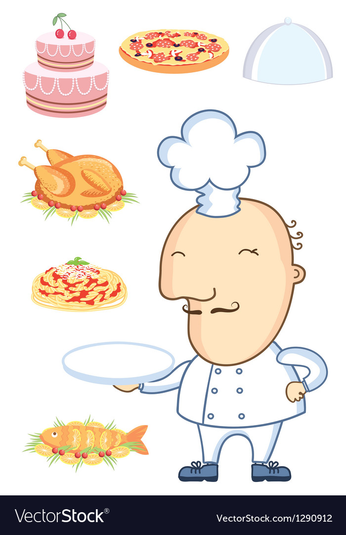 Chef man vector | Price: 3 Credit (USD $3)