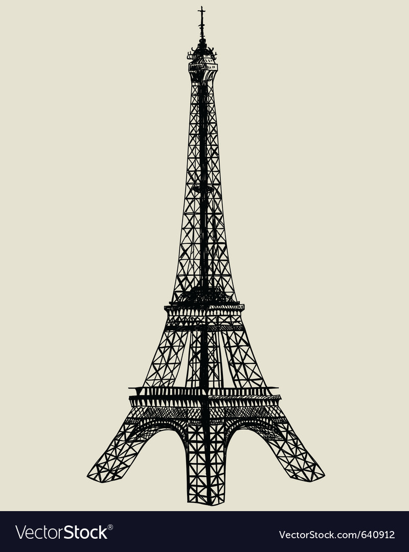 Eiffel tower sketch vector | Price: 1 Credit (USD $1)