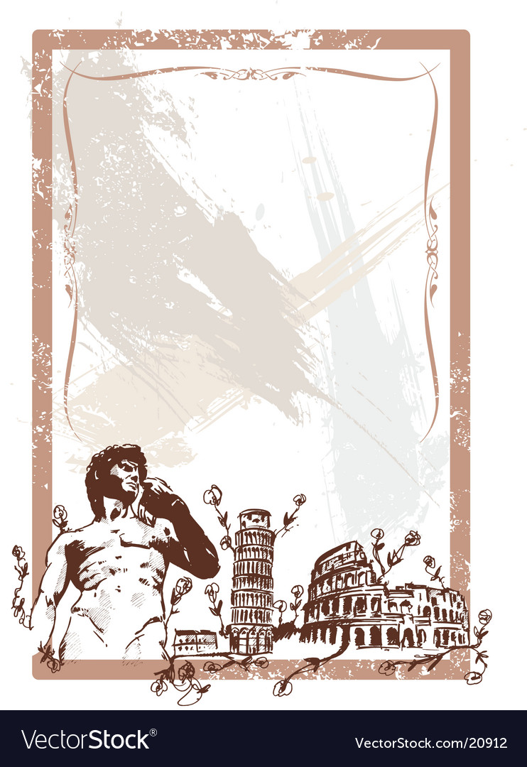 Italian landmarks vector | Price: 1 Credit (USD $1)
