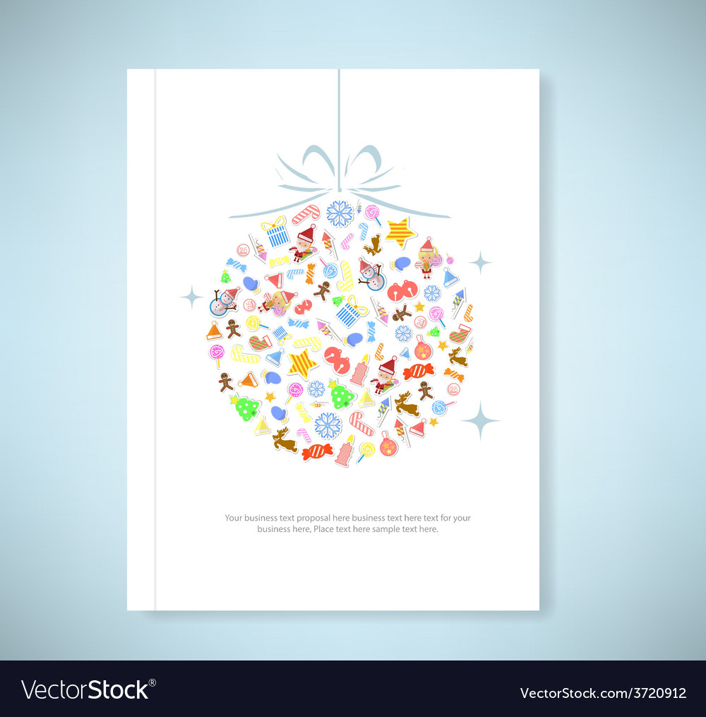 Report christmas tree icon for christmas card vector | Price: 1 Credit (USD $1)