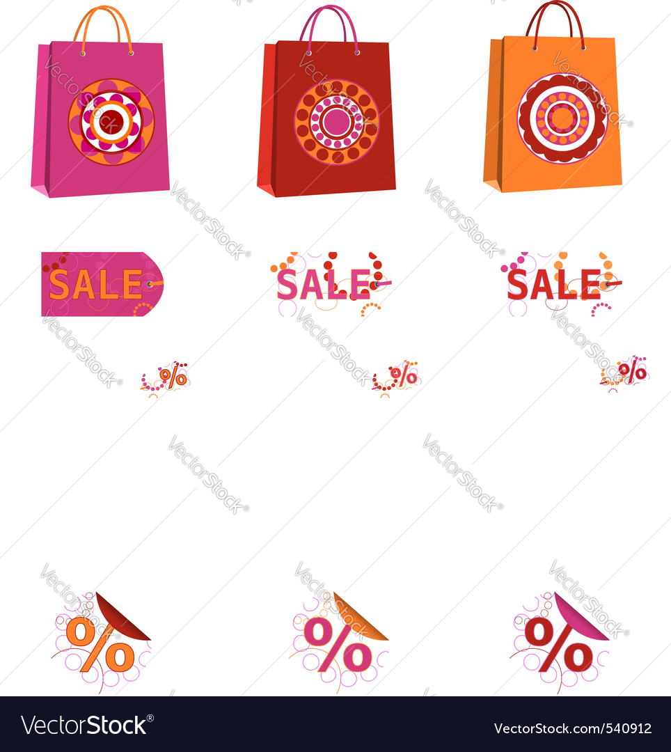 Spring sale bags vector | Price: 1 Credit (USD $1)