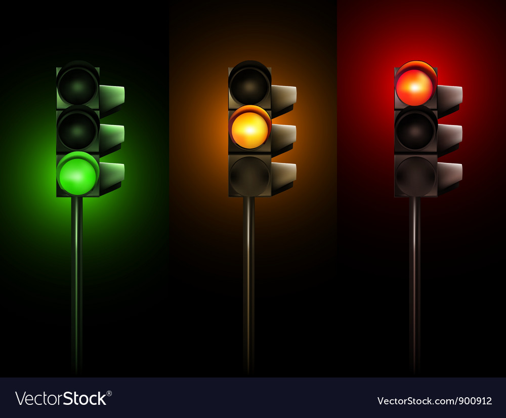 Traffic lamps vector | Price: 1 Credit (USD $1)