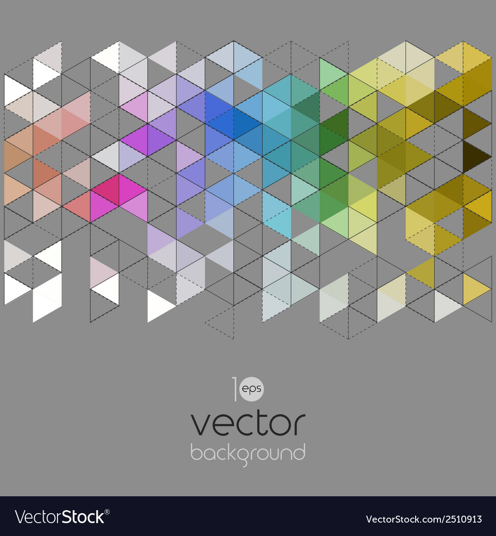 Abstract geometric banner with triangle vector | Price: 1 Credit (USD $1)