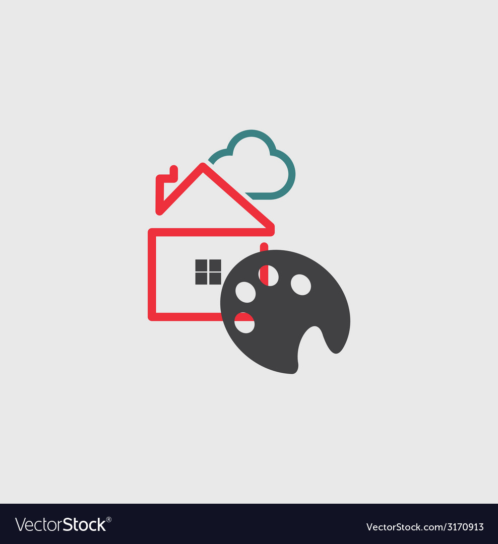 Artists house icon vector | Price: 1 Credit (USD $1)