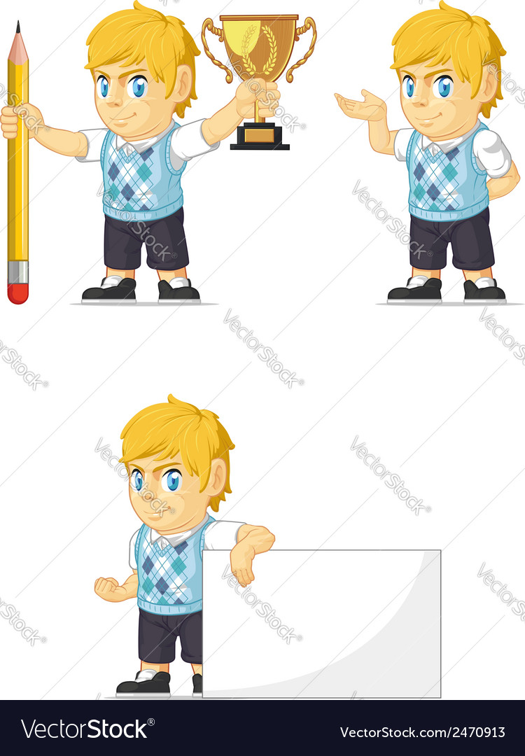 Blonde rich boy customizable mascot 13 vector | Price: 1 Credit (USD $1)