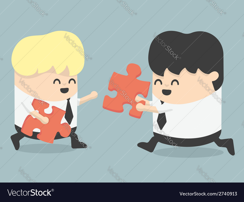Business people and puzzles vector | Price: 1 Credit (USD $1)