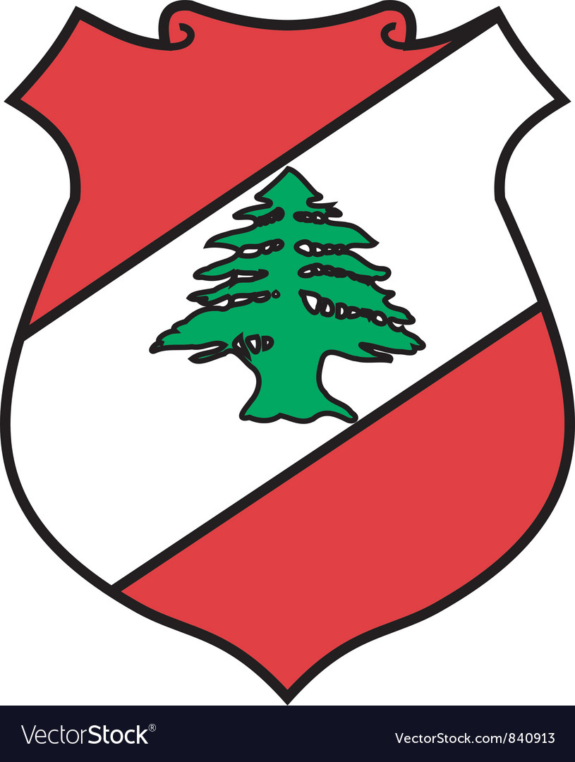 Coat of arms of lebanon vector | Price: 1 Credit (USD $1)