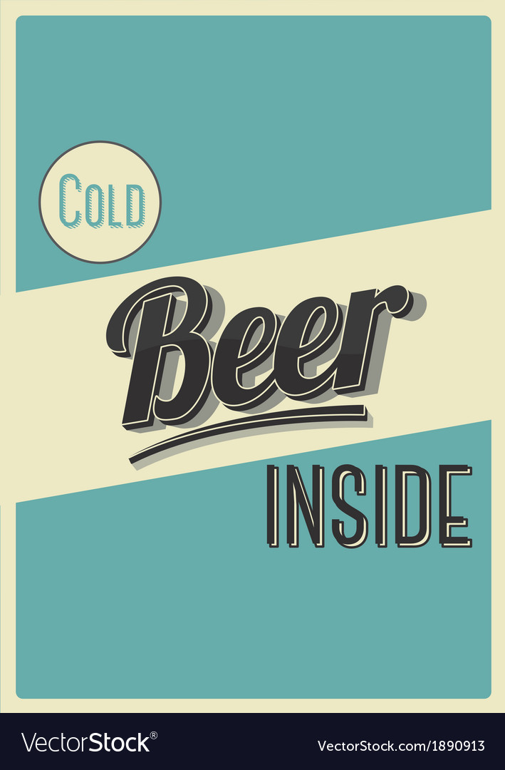 Cold beer inside vector | Price: 1 Credit (USD $1)