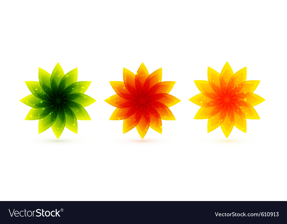 Color flower icons vector | Price: 1 Credit (USD $1)