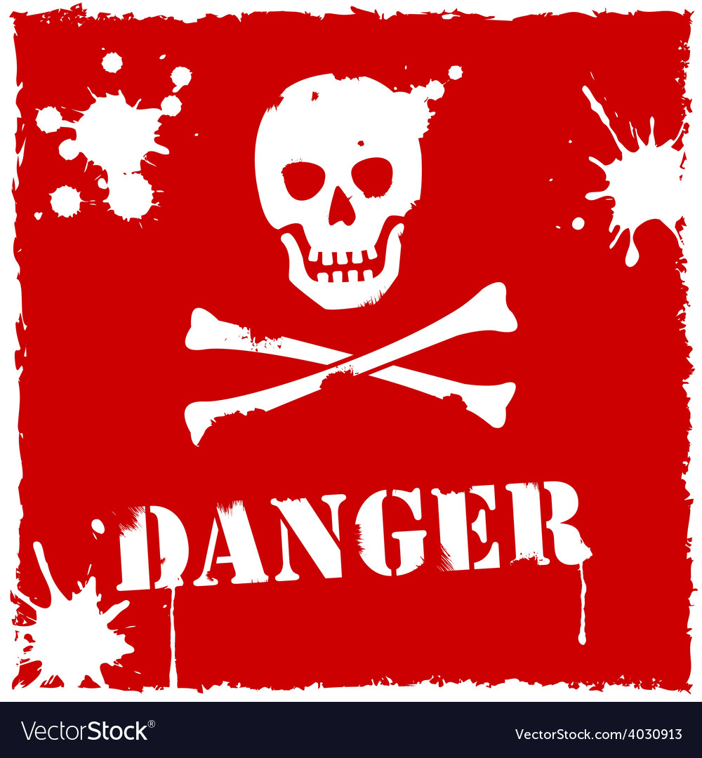 Danger icon red and white vector | Price: 1 Credit (USD $1)