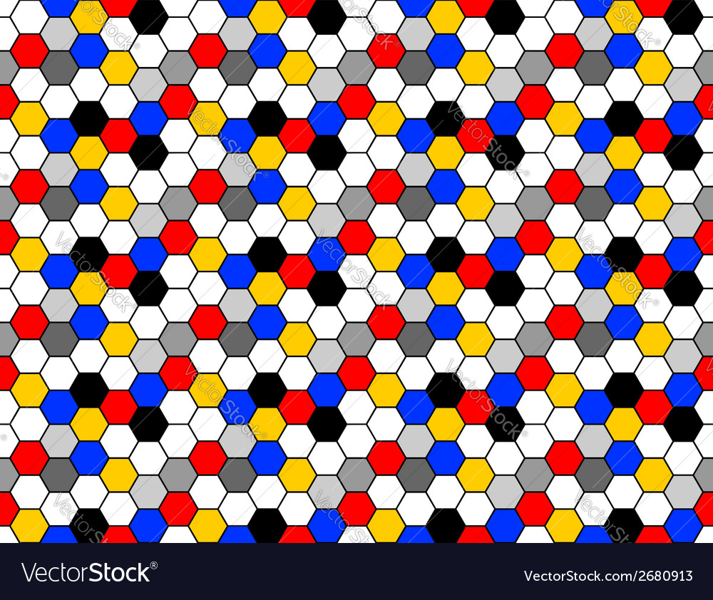 Design seamless colorful mosaic hexagon pattern vector   Price: 1 Credit (USD $1)