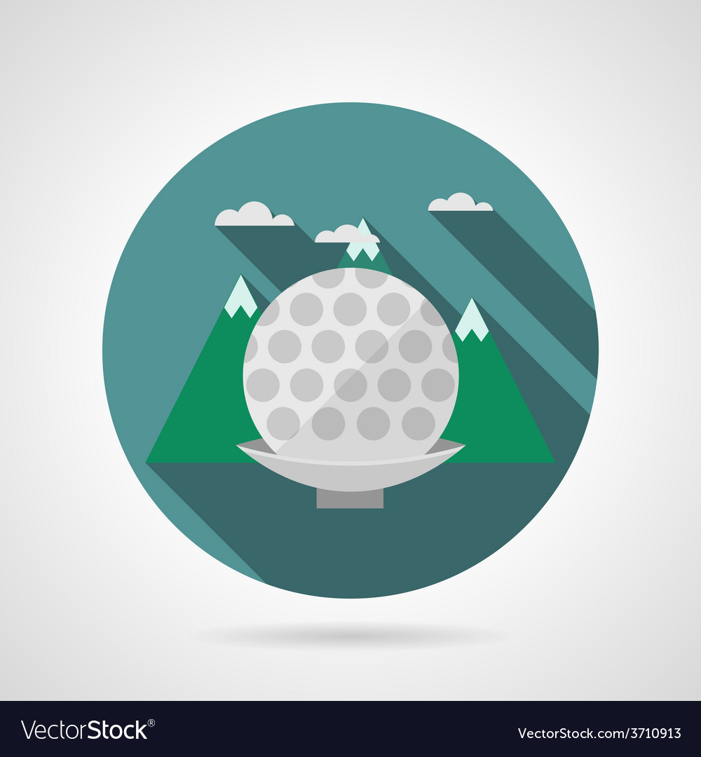 Flat icon for golf ball vector | Price: 1 Credit (USD $1)