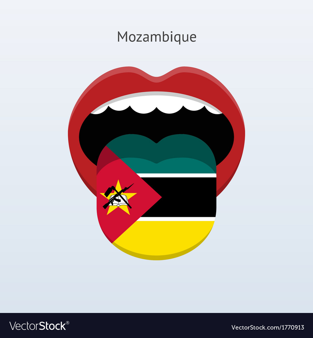 Mozambique language abstract human tongue vector | Price: 1 Credit (USD $1)